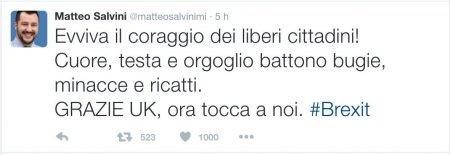 Matteo-Salvini-Tweet-Brexit