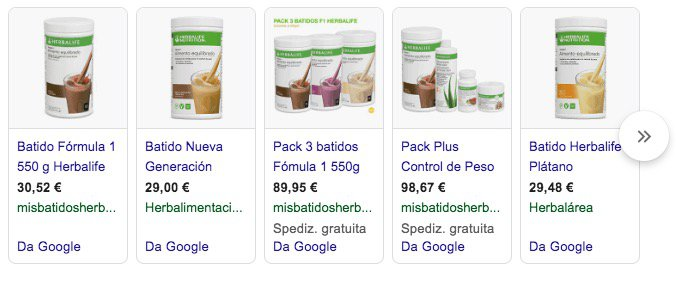 Prezzi Herbalife