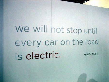 Non ci fermeremo fino a quando ogni auto sulla strada sarà elettrica - Elon Musk