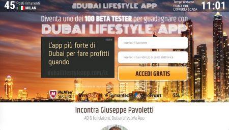 Dubai Lifestyle App Sito Web