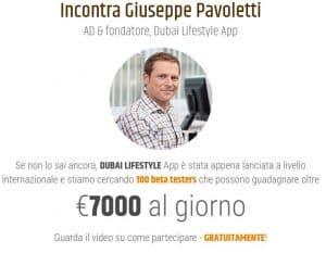 Dubai lifestyle app Giuseppe Pavoletti