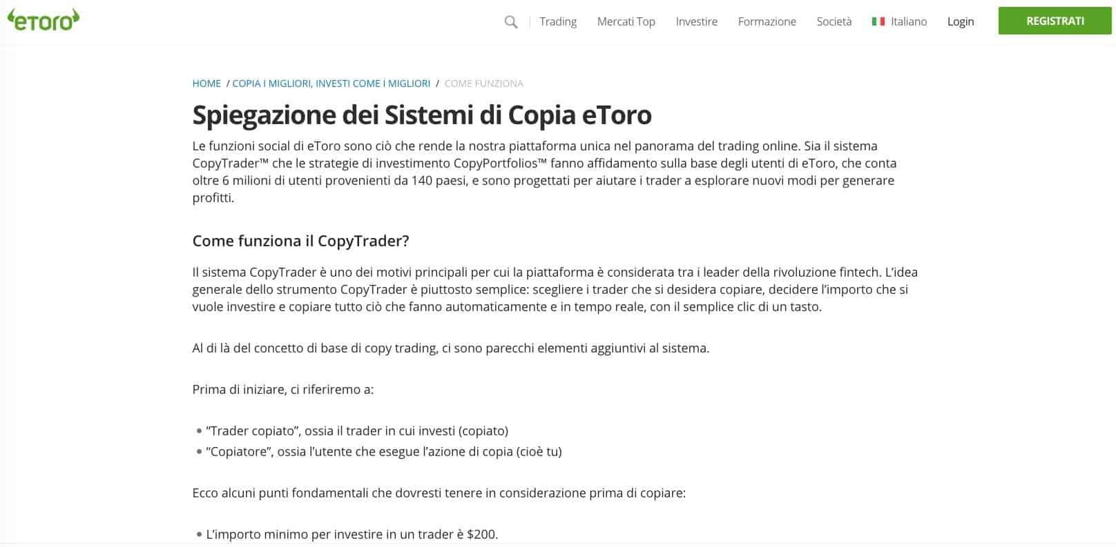 eToro CopyTrading