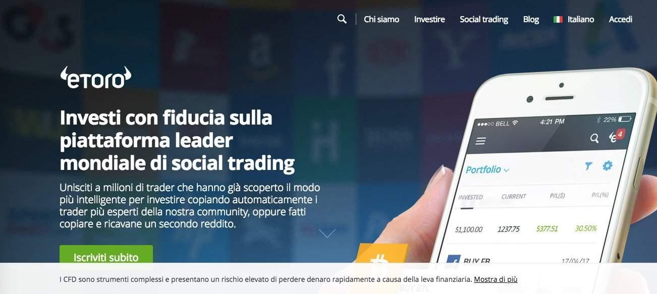 eToro leader del social trading