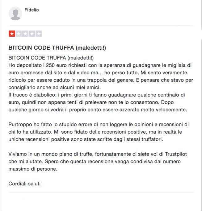 Bitcoin Code Recensione Trustpilot