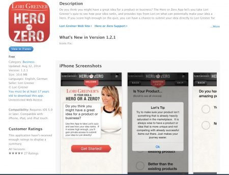 Hero Or Zero Lori Greiner