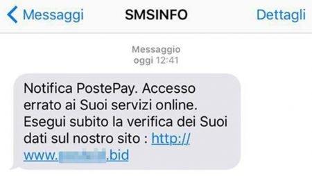 Postepay Truffa SMS