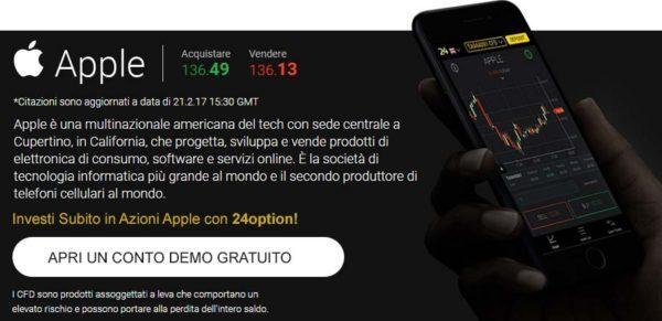Comprare Azioni Apple 24Option