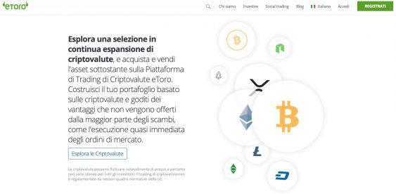 eToro Migliore Piattaforma Criptovalute
