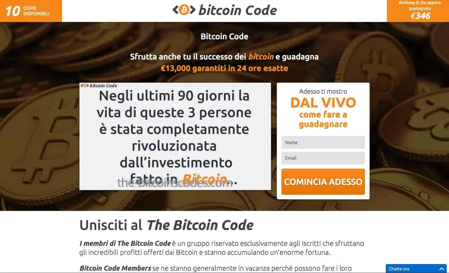 Bitcoin Code Truffa o Funziona Opinioni Recensioni