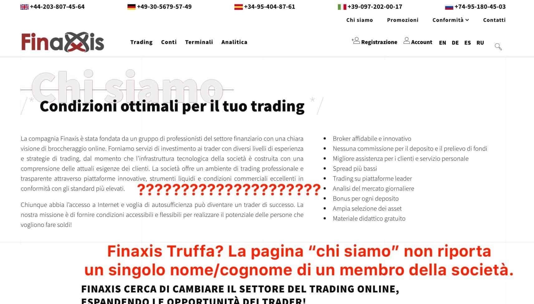 Finaxis Informazioni Aziendali