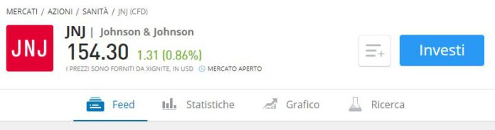 quotazione Johnson & Johnson eToro