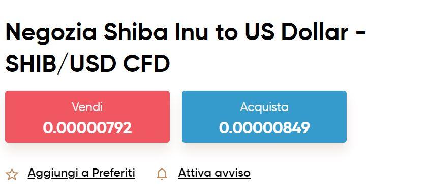 Shiba Inu CFD su Capital