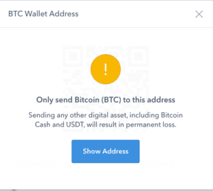 coinbase address